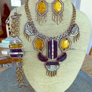 chloe and isabel necklace, earrings, bracelet